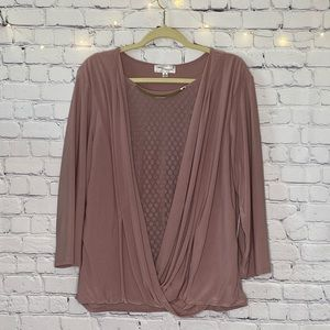 Eve & Maddie Blouse w/ Built in Cardigan/Necklace